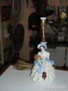 Német porcelán figurális asztali lámpa