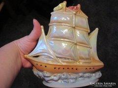 Porcelán vitorláshajó lámpának megcsinálható