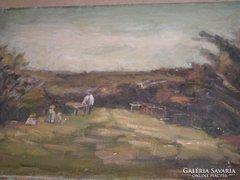 Olaj vászon festmény Schey