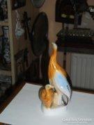 Hollóházi porcelán állat figura