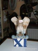 Csehszlovák porcelán madár figura