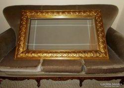 Nagyméretű, aranyozott antik tükör !