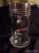 Tuborg üveg sörös korsó, 0.5 literes