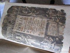 Káldi György Elsö magyar KATOLIKUS HITELES BIBLIA RMK 1626 Bécs VATIKÁN VULGÁTA Jezsuita szerzetes