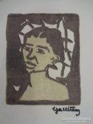 GALLÉ TIBOR 1923 -as szines linometszet