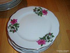 Régi szép lapos kínai 5 db lapos tányér