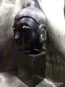 Nagyméretű egzóta fából készült Buddha szobor 35 cm
