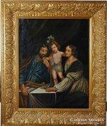 SZENT CSALÁD németalföldi festő munkája 1750 körül