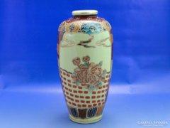 0A656 Régi nagyméretű Satsuma porcelán váza