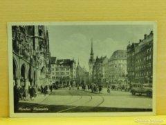 0A906 Régi képeslap München Marienplatz