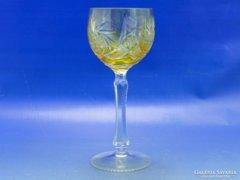 0A994 Régi sárga talpas kristály pohár