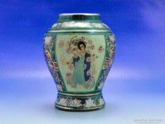 0B068 Régi három alakos japán Satsuma váza