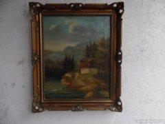Antik festmény. 1860-körül Galéria Savária cimlapján, ball felső sarkába.