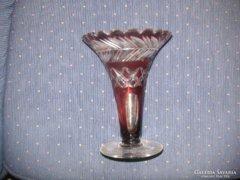 Csiszolt üveg váza 18 cm