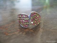 ÚJÉVI AKCIÓ Swarovski köves 925 ezüstgyűrű ezüst gyűrű