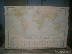 Régi politikai világtérkép vásznon