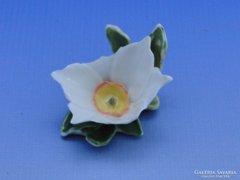 0B519 Régi jelzett ENS porcelán virág