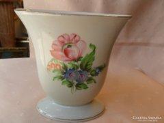 Herendi virágmintás lapos váza.