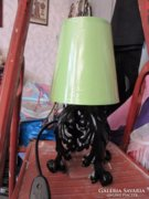 Felújított kovácsoltvas lámpa választható ernyővel