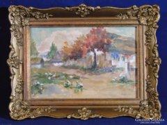 0C131 Neogrády Antal libás akvarell