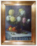 0C192 Nagy jelzéssel : Őszirózsás virágcsendélet
