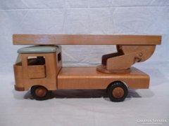 2544 Régi német FWF fa tűzoltó autó 60-as évek
