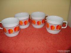 Zsolnay porcelán  barackmintás csészék