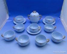 0B959 Antik ELBOGEN AZUR porcelán teás készlet