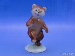 0C354 Régi DRASCHE porcelán medve