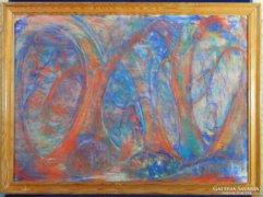 0C127 Ismeretlen absztrakt festmény