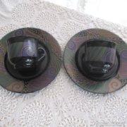 2 db Arcoroc francia teáscsésze,sütistányér