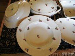 BAVARIA, 10 db-os,  Gyönyörű régi porcelán készlet egyfogású  ételekhez