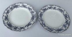 Antik fajansz Hüttl Tivadar-Cauldon tányér 2 db