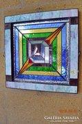 X. Vasarely stilusu.. Eredeti 3D. Tiffany fali kép akció!