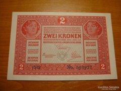 *** UNC Bélyegzés nélküli 1917-es 2 korona ***