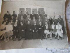 1943 BALATONFÜRED elökelőségei fotó tiszt pap