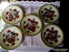 Altwien jelenetes süteményes tányérok