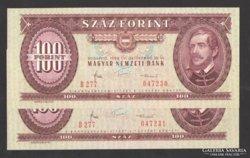 100 forint 1984.   2 db sorszám követő!!  UNC!!
