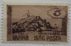 1921. Nyugat-Magyarország, Lajtabánság 5 koronás tévnyomat.
