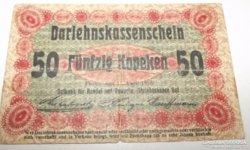 Darlehnskassenschein 50 kopek 1916