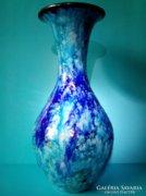 BOD ÉVA  kerámia váza 33,7 cm - a tenger összes kékjével