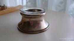 Ezüst fűszertartó üvegbetéttel