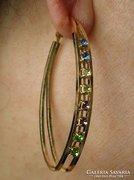 Arany filled+kristály 6,5cm gyönyörű fülbevaló