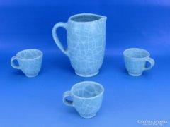 0C720 Gorka Géza kerámia kancsó 3 csészével