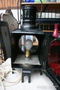 Régi villamos kocsis lámpa, elektromosra alakítva