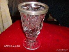 Gyonyoru ezust es kristaly pokal/pohar 1860-bol ir szarmazas learazva