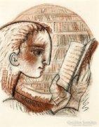 Hincz Gyula - Olvasó lány
