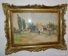 RAIDL SÁNDOR /1859-1934/ 30x40-es akvarell 1922-ből
