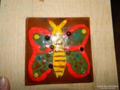 Pillangó  - tűzzománc kép