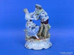0C719 Antik jelzett VOLKSTEDT porcelán miniatúra